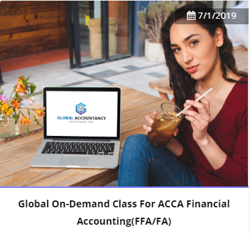 Global On-Demand(GOD) Revision Class For ACCA Financial Accounting(FFA/FA)