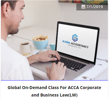 Global Live Online(GLO) Class  For ACCA Corporate and Business Law(LW)